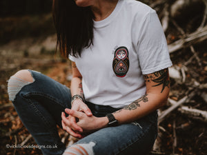BASIC WITCH Russian Doll Tattoo T-shirt