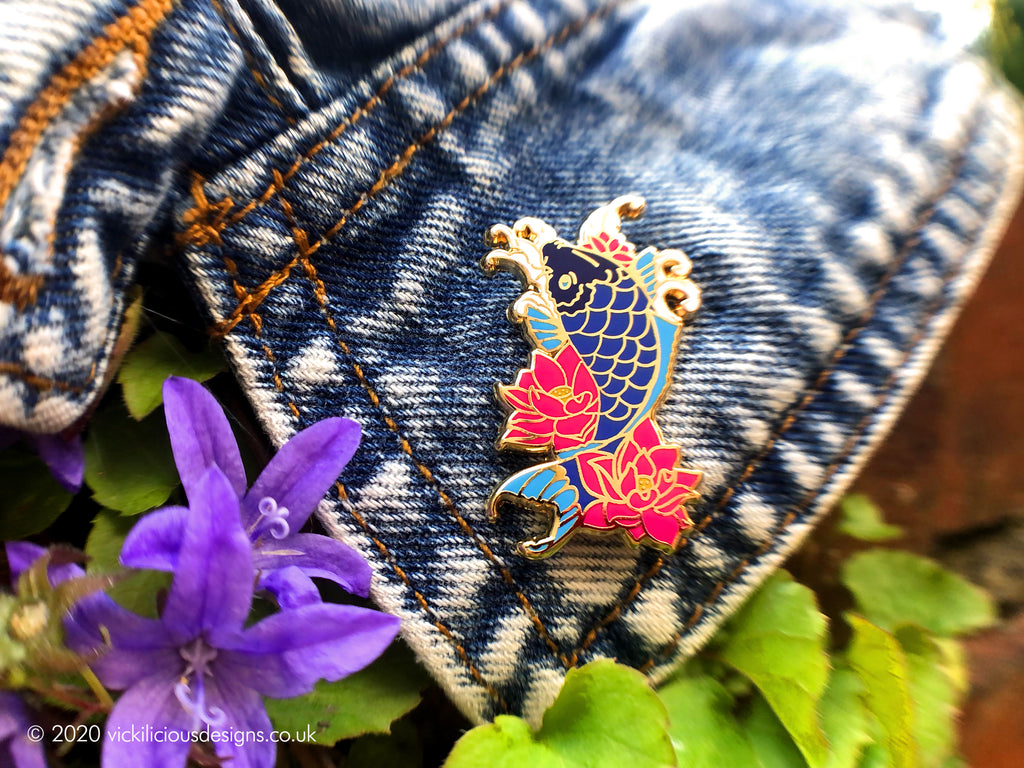 Japanese Koi Carp Hard Enamel Pin