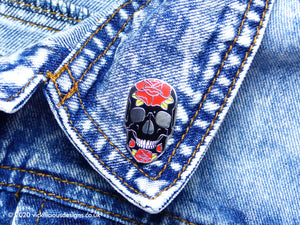 Skulls & Roses Tattoo Hard Enamel Pin
