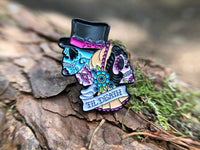 Til Death Bride & Groom Sugar Skull Tattoo Soft Enamel Pin