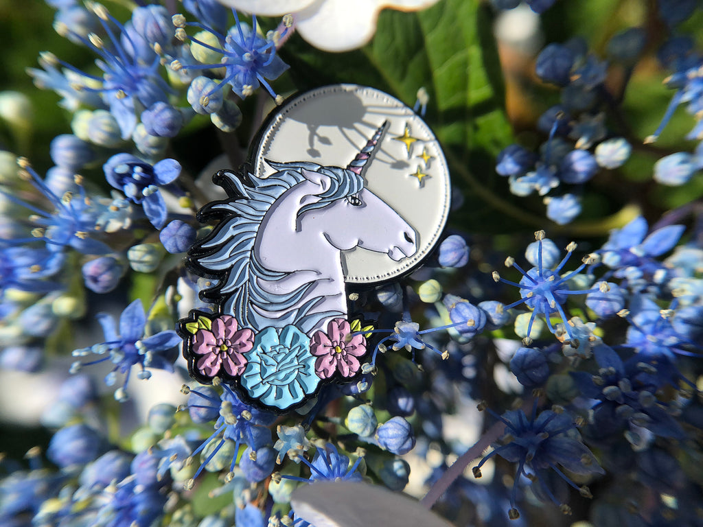 Unicorn Tattoo Soft Enamel Pin