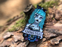 Living Dead Zombie Girl Tattoo Soft Enamel Pin