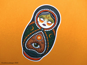 BASIC WITCH Magical Russian Doll Tattoo Sticker