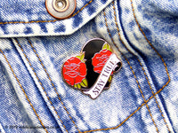 STAY TRUE Heart & Rose Tattoo Hard Enamel Pin