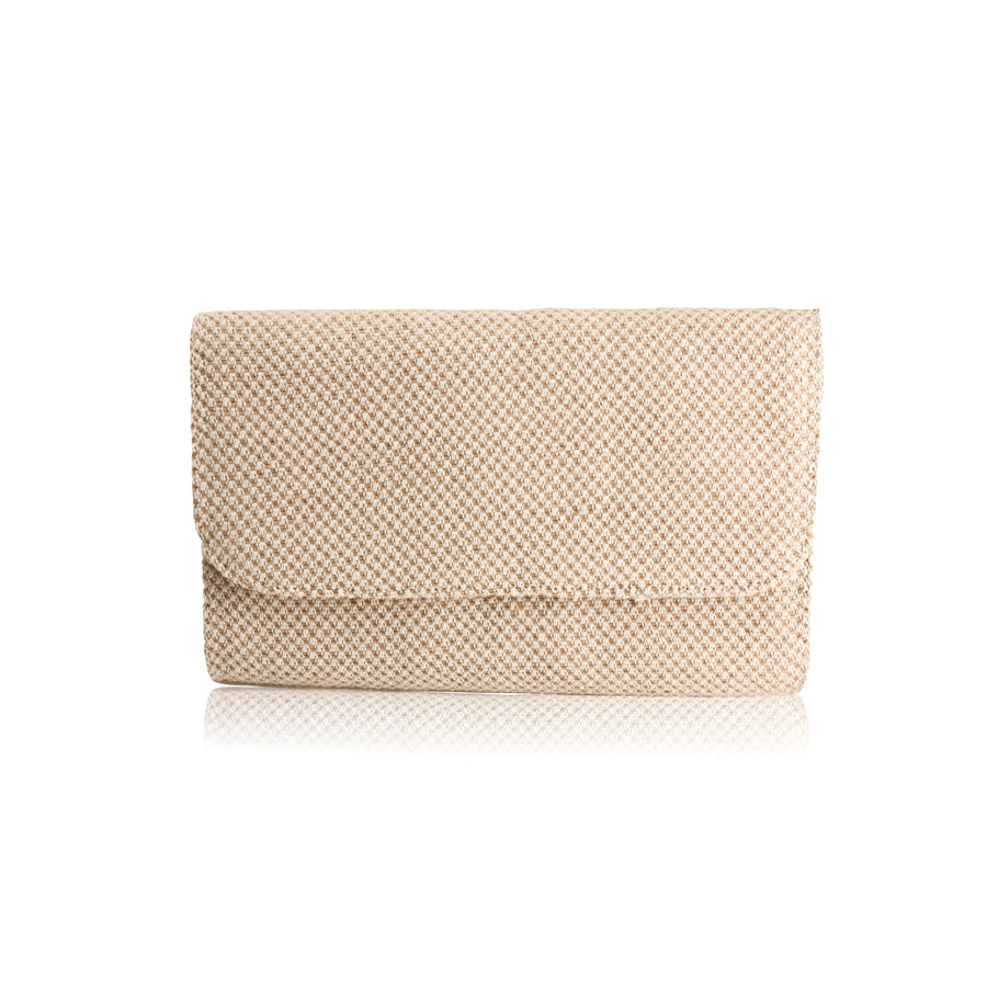 Perla Jute Natural Handmade Clutch