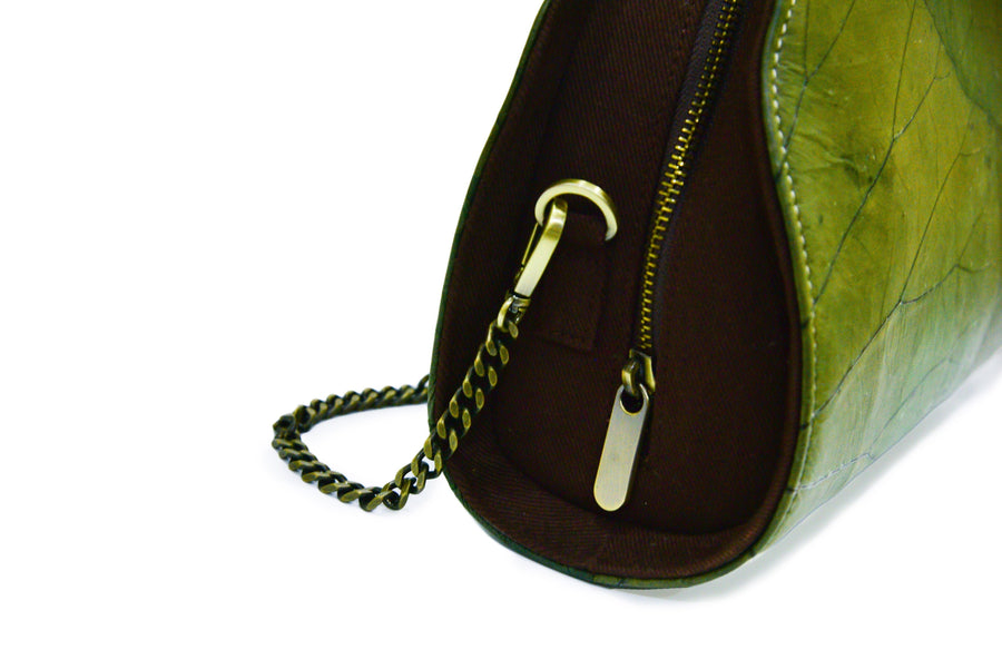JANE NATURAL LOTUS HANDMADE SEMI-CIRCLE CHAIN SHOULDER BAG