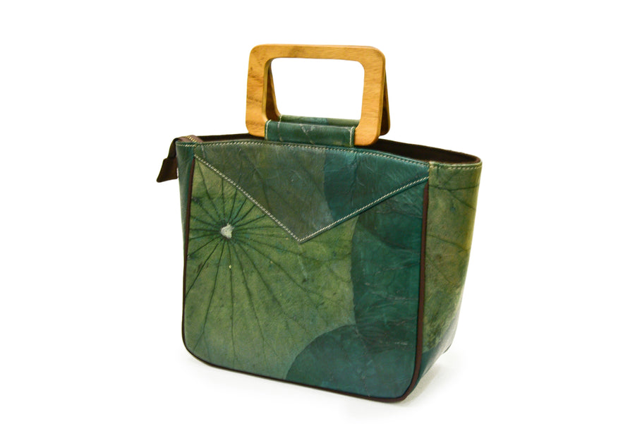 MYRA NATURAL LOTUS SQUARE TOP HANDLE TOTE