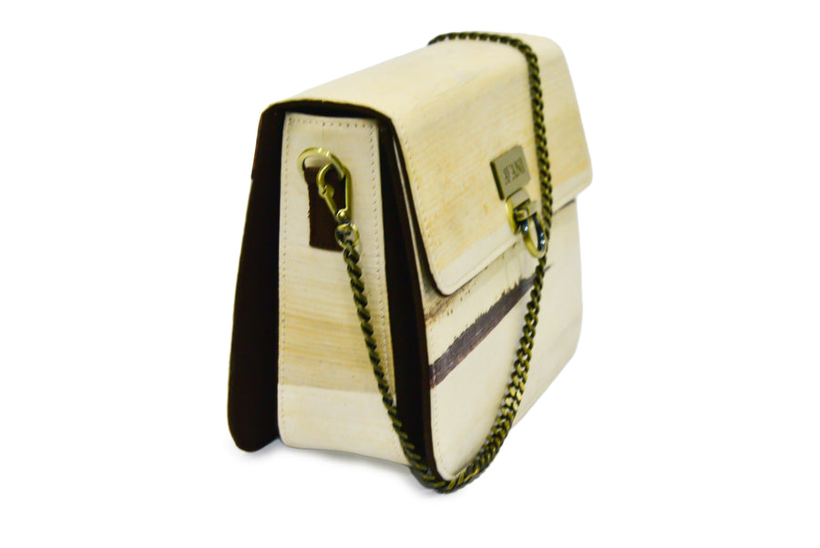 BLAIR NATURAL BANANA HANDMADE CHAIN SHOULDER BAG