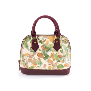 Ava Rain Tree Natural Handmade Small Satchel