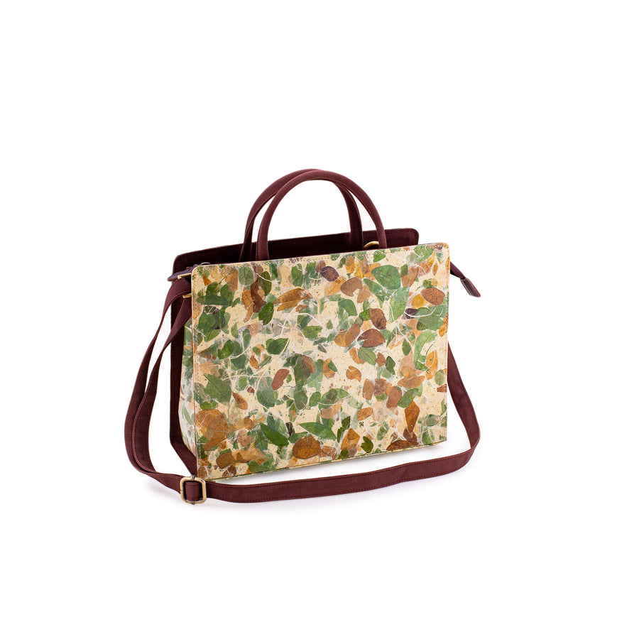 Kate Rain Tree Natural Handmade Satchel