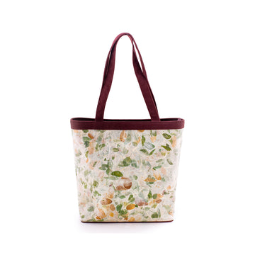 Emma Rain Tree Natural Handmade Tall Tote
