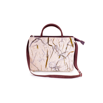 Kate Bamboo Natural Handmade Satchel