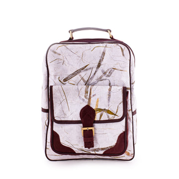 Sophie Bamboo Natural Handmade Backpack