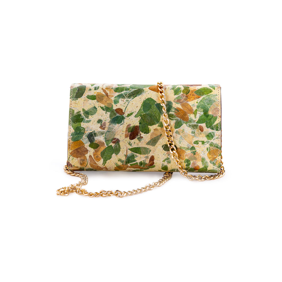 Perla Rain Tree Natural Handmade Clutch