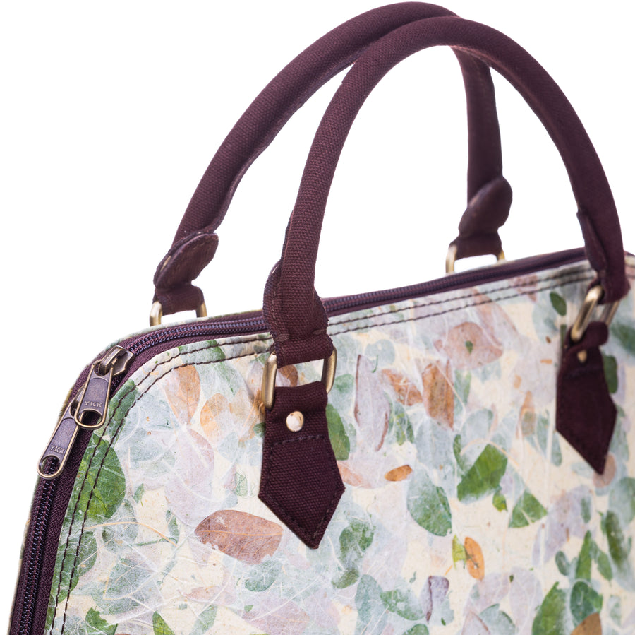 Ava Rain Tree Natural Handmade Medium Satchel