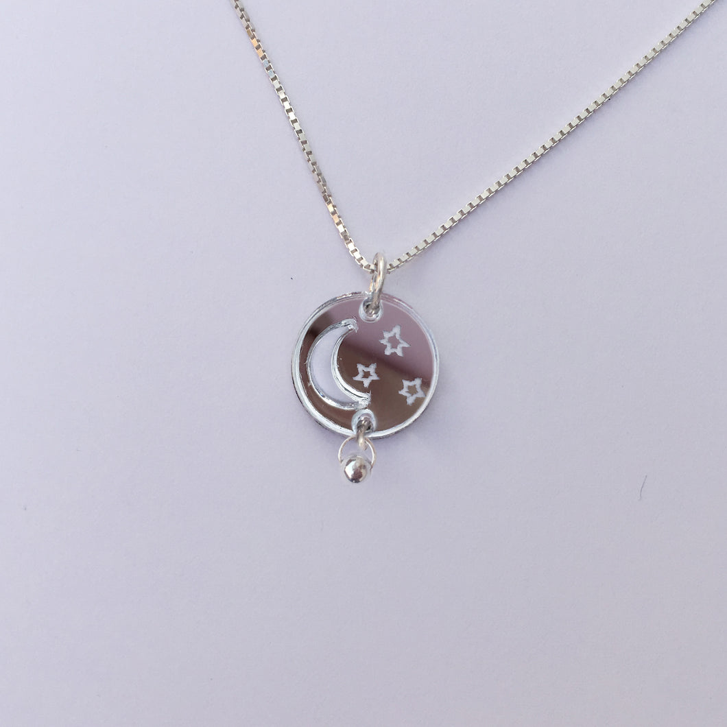 To The Moon -925 silver necklace