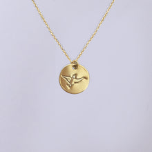 Gullfugl - gold plated (24K) silver necklace