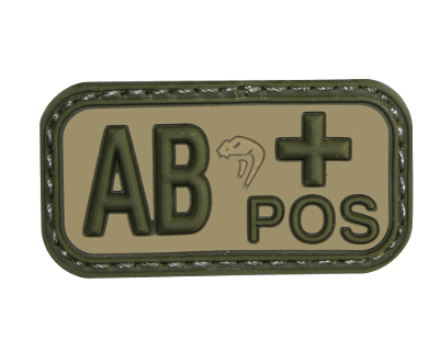 Viper Bloodtype AB-POS patch - Olive Drab