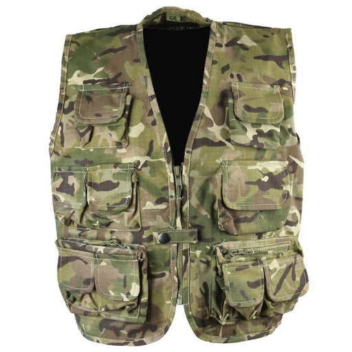 KombatUK Kids Safari Vest - BTP (Multicam)