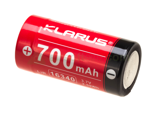 Klarus 3.7V 16340 Rechargeable Battery - 700mAh
