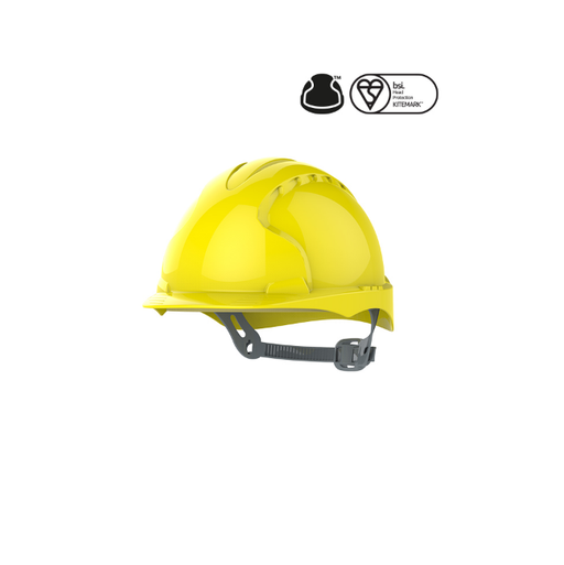 JSP EVO®3 Safety Helmet with Slip Ratchet - Yellow