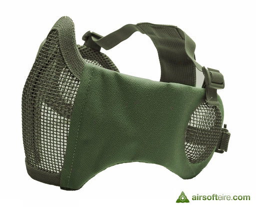 ASG Mesh Half Face Mask With Cheek Pads & Ear Protection - OD