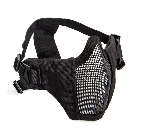 ASG Mesh Half Face Mask With Cheek Pads - Black