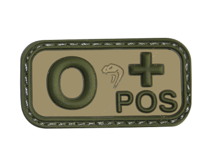 Viper Bloodtype O-POS patch - Olive Drab