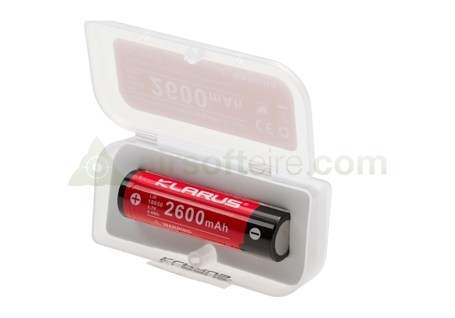 Klarus 18650 Rechargeable Battery - 2600mAh