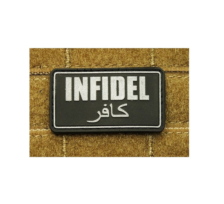 JTG 3D Rubber INFIDEL Patch - Black/Grey