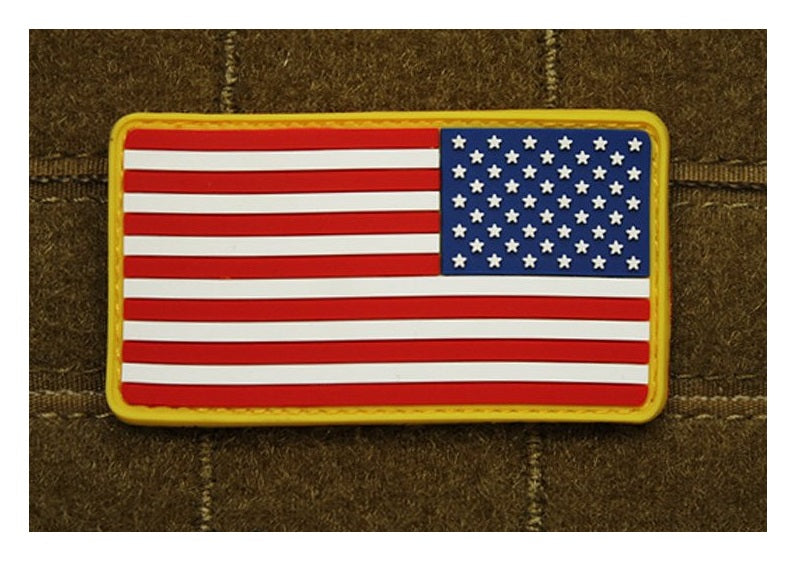 JTG 3D Rubber American Flag Patch Reversed