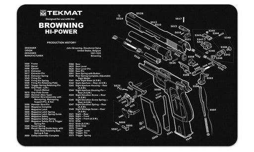 TekMat Browning Hi Power Exploded Work Mat