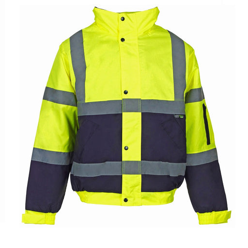 Supertouch Hi Vis Yellow 2 Tone Bomber Jacket