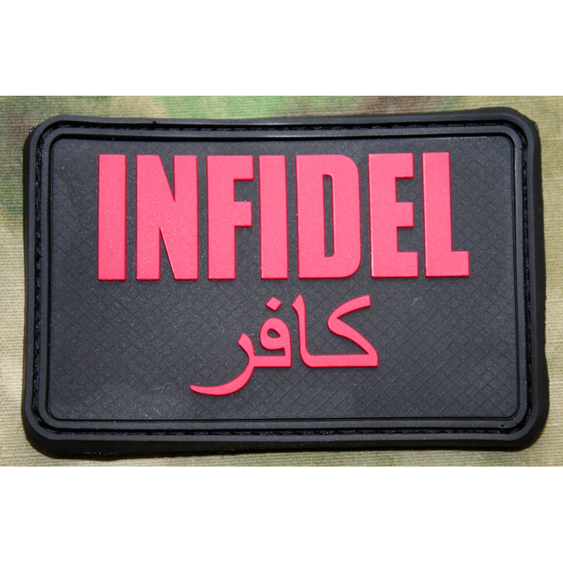 JTG 3D Rubber Large INFIDEL Patch - Black Medic