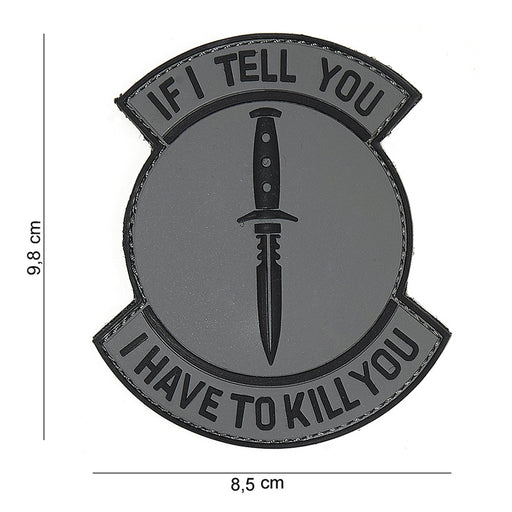 "JTG 3D ""If I Tell You"" Patch - Grey/Black"