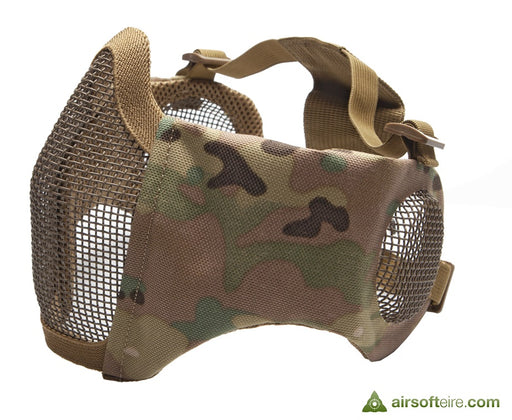 ASG Mesh Half Face Mask With Cheek Pads & Ear Protection - Multi