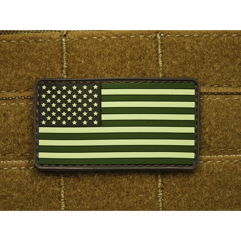 JTG 3D Rubber American Flag Patch - Forest