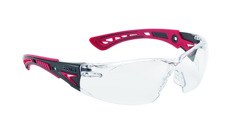 Bollé RUSH+ Clear Glasses - Red