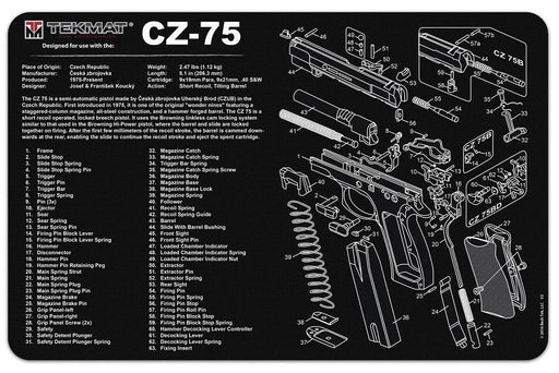 TekMat CZ-75 Exploded Work Mat