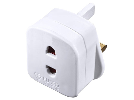CCCP European 2 Pin to UK 3 Pin Plug Adapter