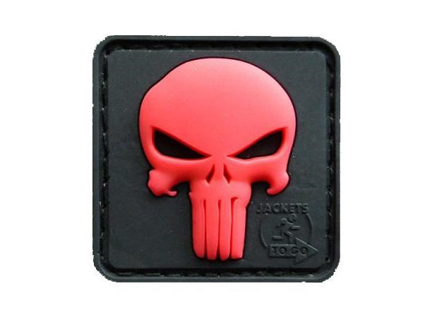 JTG 3D Rubber Punisher Patch - Red