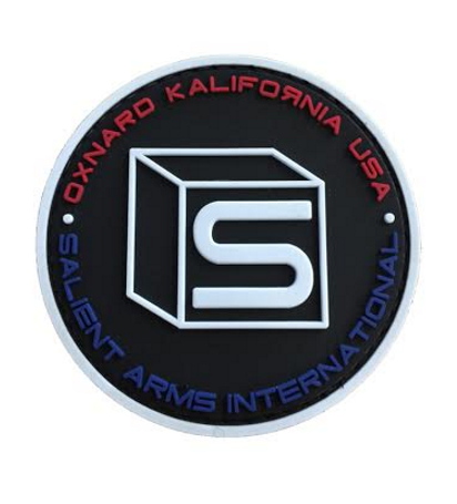 APS 3D Rubber Salient Arms Colored Logo Patch