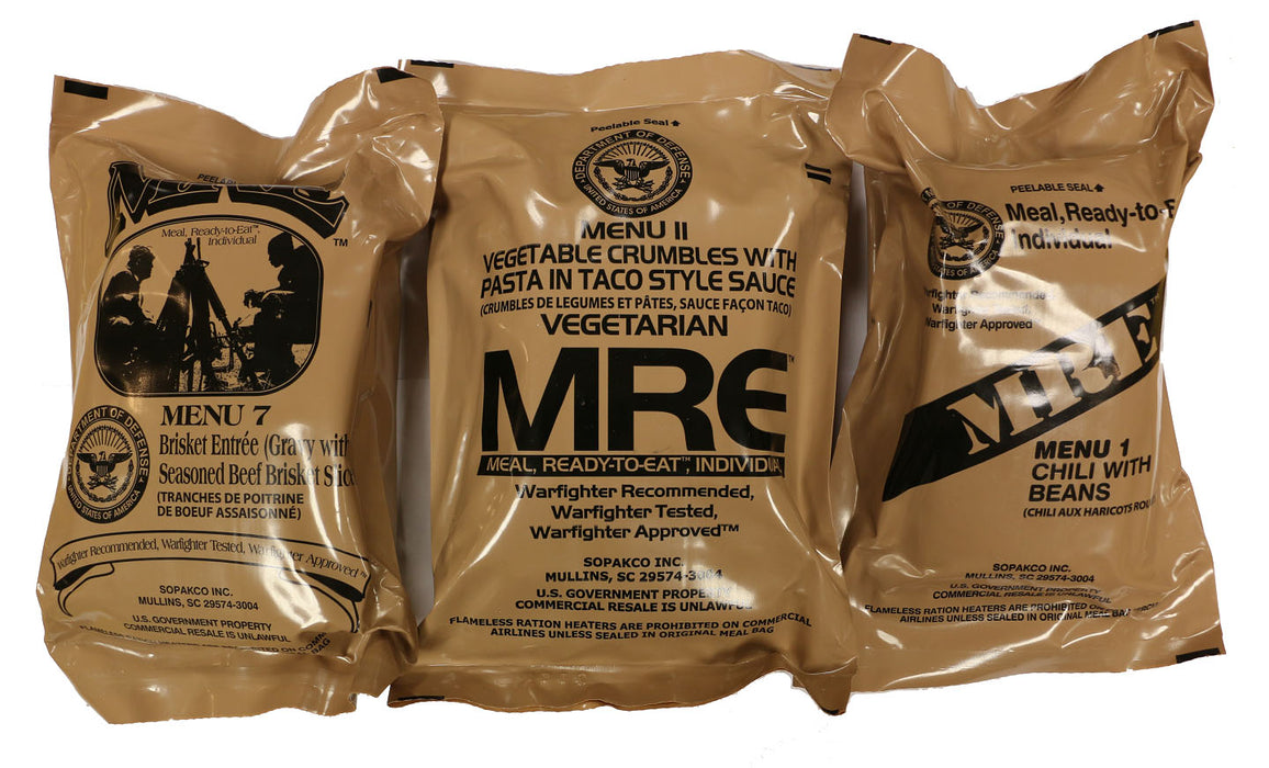 Manufacturer Genuine U.S. Military Surplus MREs (Meal Ready-to-Eat)