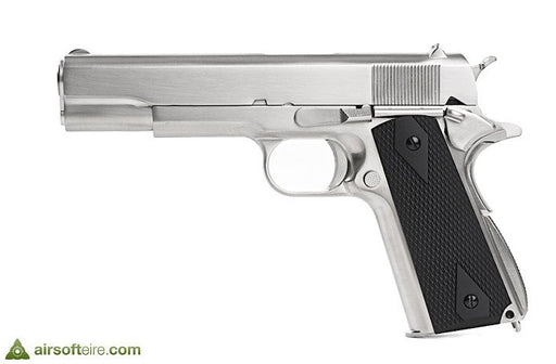 WE M1911 Stainless - Black Grips