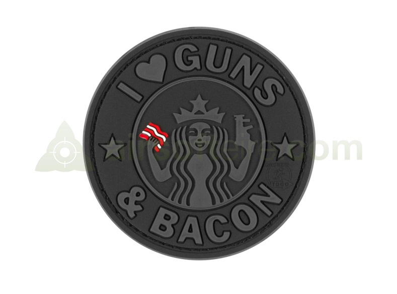 JTG 3D Rubber Guns & Bacon Patch - Black