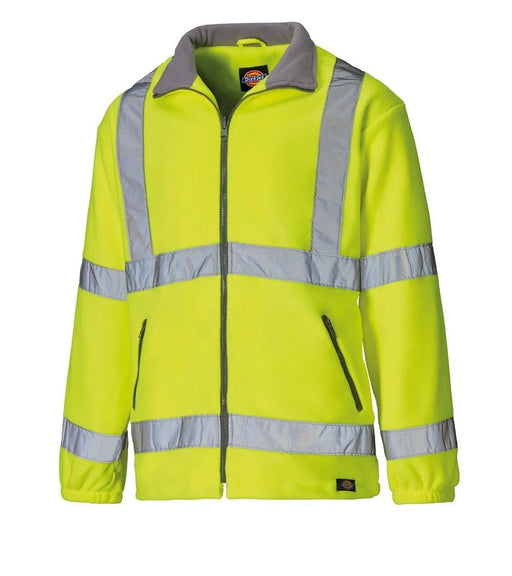 Dickies Hi Vis Yellow Lined Fleece Jacket