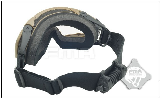 FMA SI-Ballistic Goggles with Fan - Tan