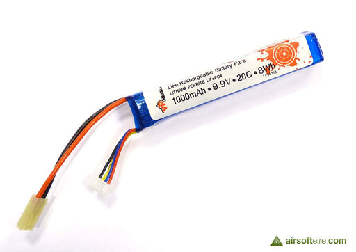 ASG Vapex 9.9V 1000mAh 20C LiFe Battery - Small Stick