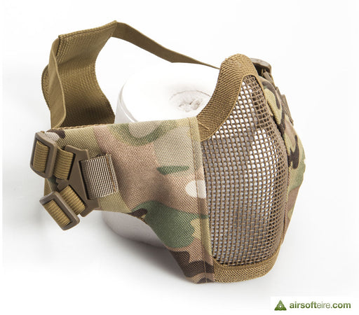 ASG Mesh Half Face Mask With Cheek Pads - Multicam