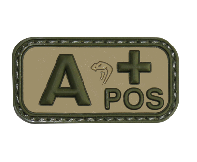 Viper Bloodtype A-POS patch - Olive Drab